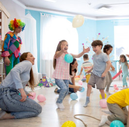 happy kids on a party